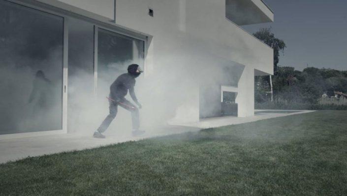 niebla alarma seguridad